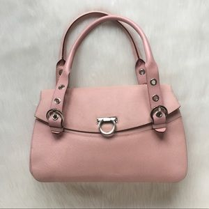 Salvatore Ferragamo Light Pink Pebbled Leather Bag